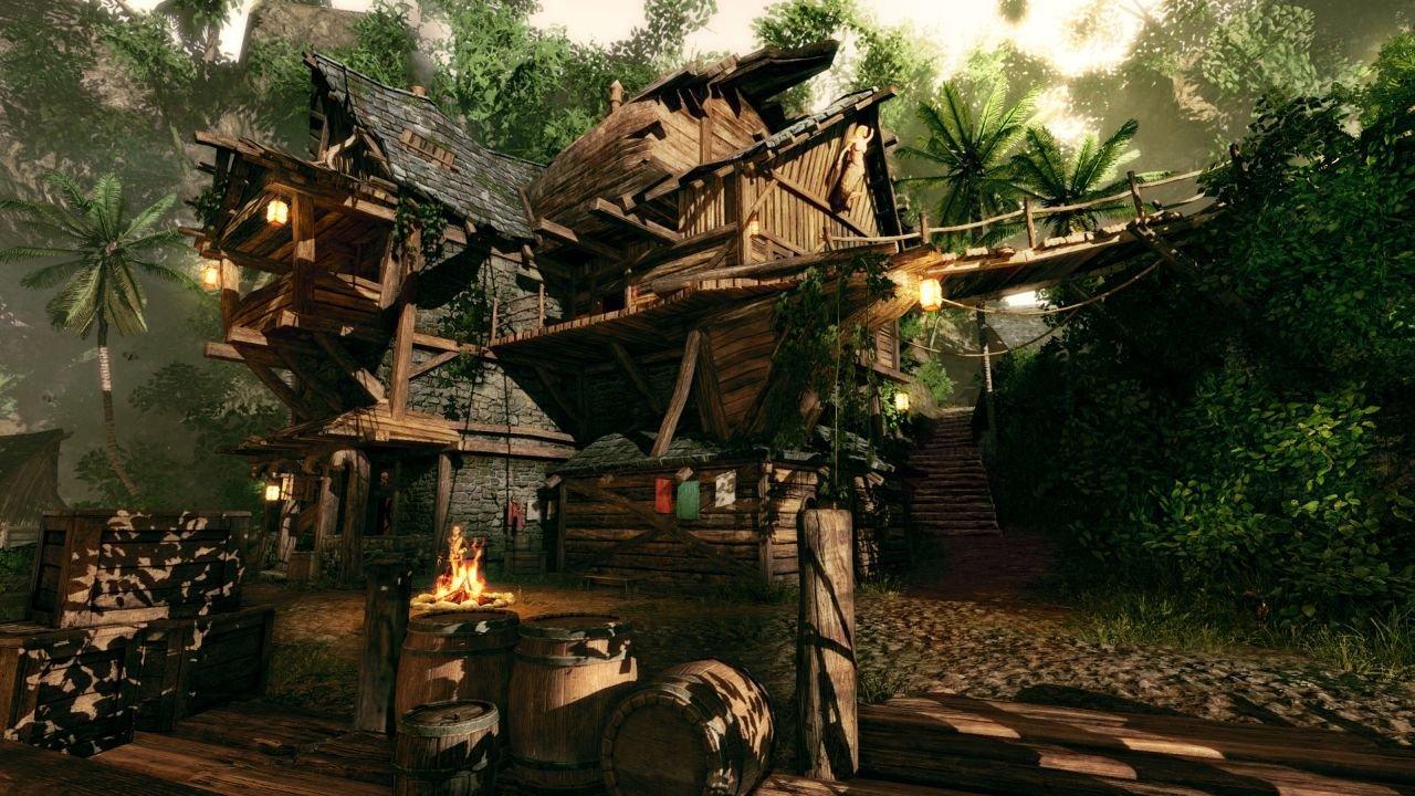 Il locale e la distilleria di Booze è il fulcro della vita piratesca di Takarigua.