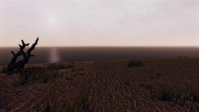 Panoramica sull'oceano infinito dalla spiaggia di Ardea