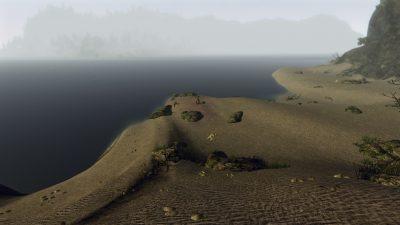 Ampie panoramiche attendono i visitatori della spiaggia di Capo Dun
