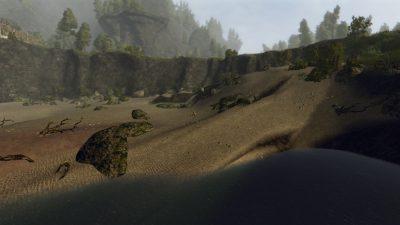 L'interessante mix di sabbia, pietra e scogliere invita ad indugiare sul luogo