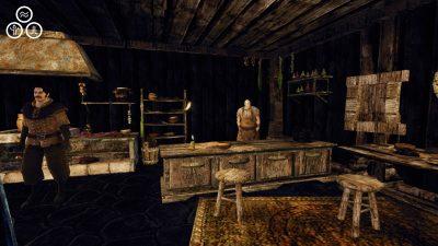 Il bancone nella taverna di Montera