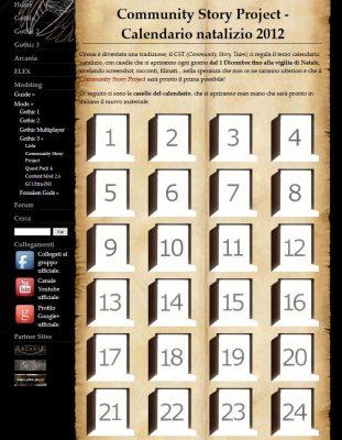 Questo è uno dei numerosi calendari natalizi, che il team italiano ha ricreato sul loro sito.