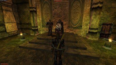Re Rhobar II e Hagen nell'armatura di Guardia Reale. L'aspetto del re corrisponde a quello nell'introduzione del primo Gothic.