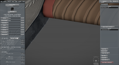 Mesh di una spada in Toolbag