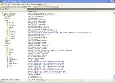 Segnalazioni di errore dal programma Gothic Sourcer